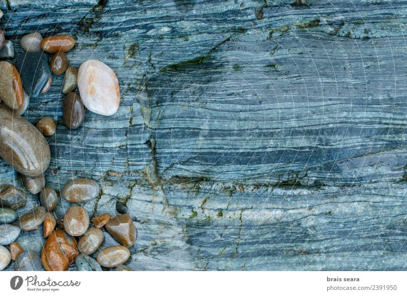 Pebbles over stone composition for background. Design Relaxation Swimming pool Beach Ocean Decoration Wallpaper Science & Research Art Work of art Environment
