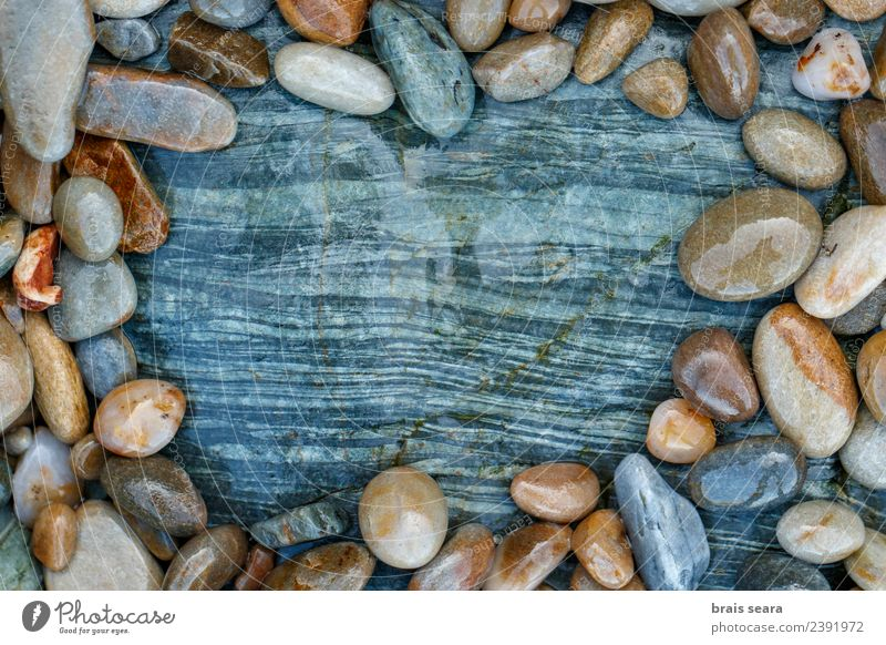 stone texture Nature Blue Landscape White Ocean Relaxation Beach Environment Natural Coast Style Art Feasts & Celebrations Stone Brown Copy Space