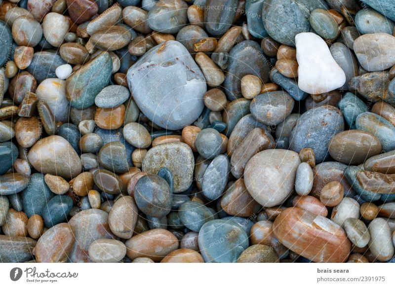 Pebbles background Nature Blue Water Landscape White Ocean Relaxation Calm Beach Environment Natural Coast Stone Brown Copy Space Sand