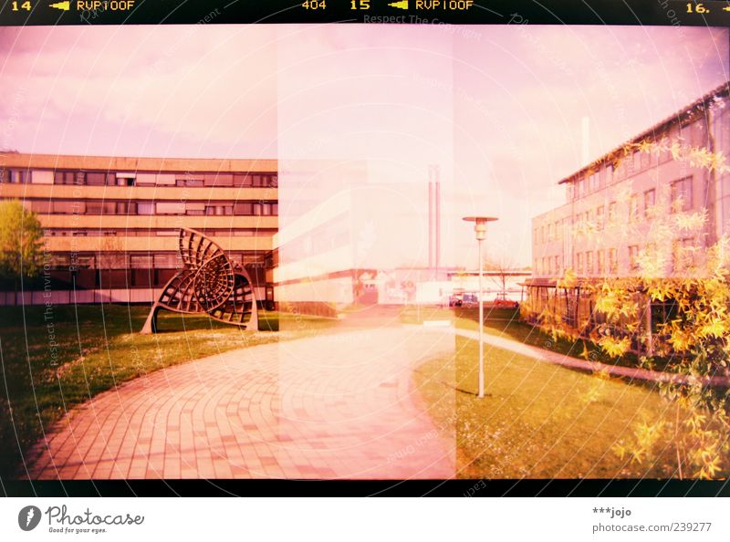 14 < RVP 100F 404 15 < RVP 100F 16. < Würzburg Pink Analog Architecture Manmade structures Concrete Cross processing Double exposure False coloured