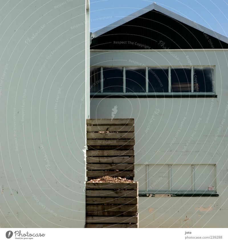 House (Residential Structure) Calm Window Architecture Building Line Modern Factory Box Cardboard Warehouse Crate Stack Backyard Sharp-edged Storage