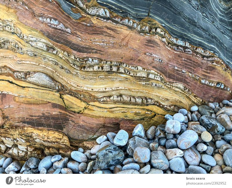 Stone texture background Nature Blue Colour Landscape White Ocean Relaxation Beach Environment Natural Coast Brown Copy Space Sand Rock