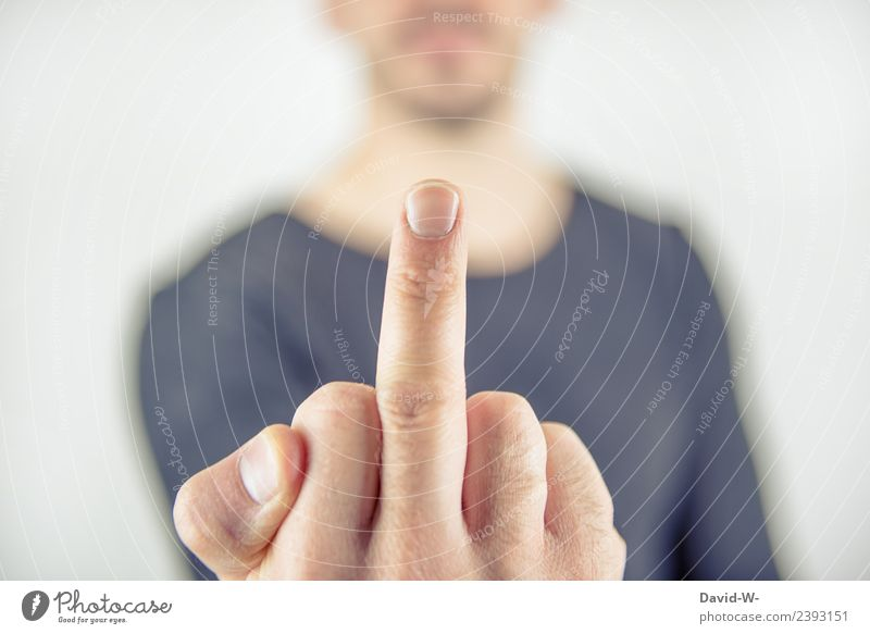 Fuck you. Lifestyle Elegant Parenting Education Human being Masculine Young man Youth (Young adults) Man Adults Hand Fingers 1 Communicate Argument Aggression
