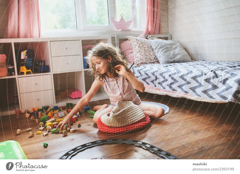 child girl cleaning her room Lifestyle Playing Bedroom Child Places Toys Wood Build Modern Clean Creativity help Housekeeping Helper gather pick Home nursery