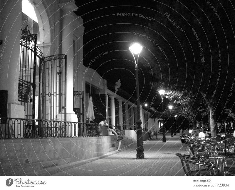 Night in Córdoba Gastronomy Building Terrace Spain Architecture Roadhouse Coffee Black and white Pérgola Cordoba Friends