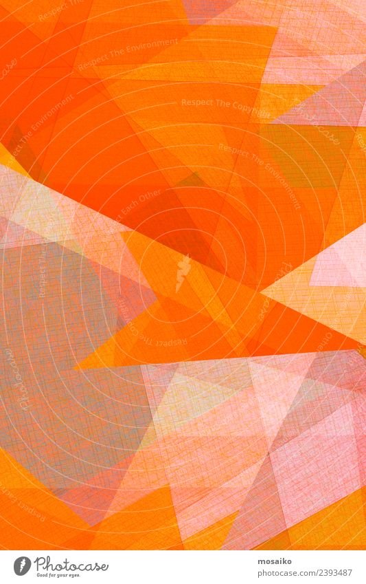 orange geometric shapes on paper texture Colour Lifestyle Style Business Art Fashion Design Leisure and hobbies Office Bright Line Modern Creativity Paper