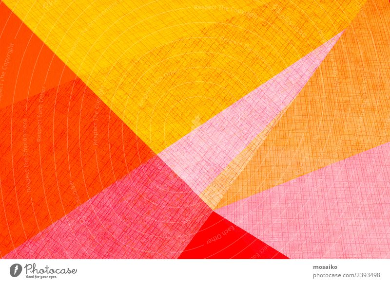 geometric shapes on paper texture Colour Style Business Happy Art Fashion Design Bright Line Modern Creativity Paper Simple Wedding Information Card