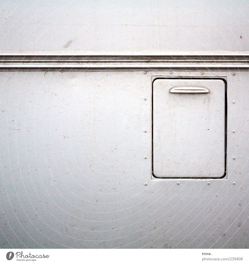 White Gray Car Metal Contentment Closed Dirty Esthetic Stripe Plastic Mysterious Bus Motoring Surrealism Surface Door handle