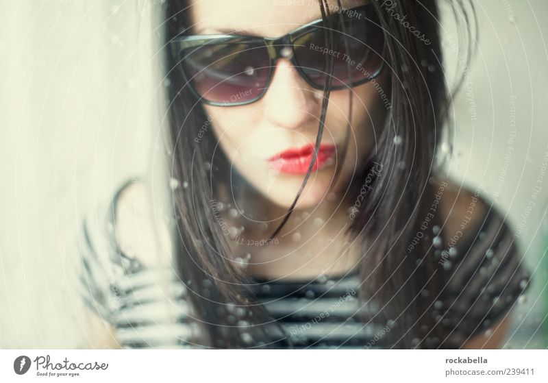 Human being Beautiful Feminine Elegant Free Esthetic Wild Crazy Cool (slang) Authentic Uniqueness Thin Sunglasses Brash Black-haired
