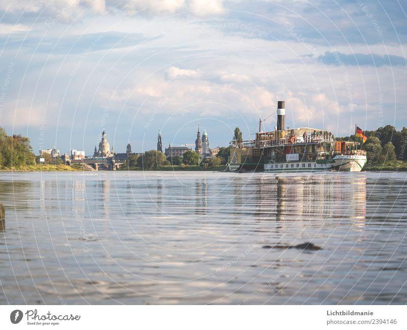 Dresden Skyline Steamship Shopping Fishing (Angle) Vacation & Travel Tourism Trip Sightseeing City trip Cruise Summer Aquatics Sailing Landscape Plant