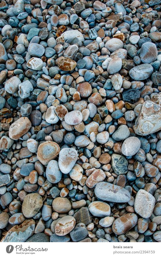 Pebbles background Nature Vacation & Travel Old Blue Summer Colour Beautiful Landscape Ocean Calm Beach Black Environment Natural Coast Stone