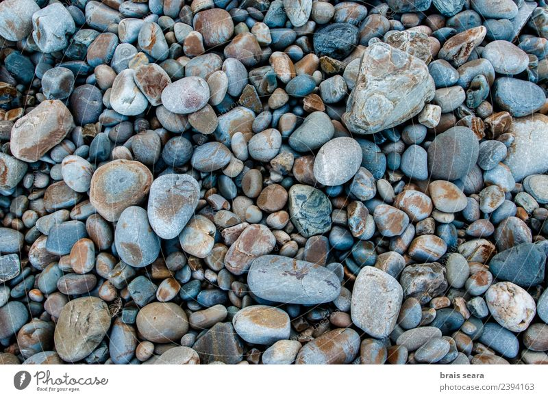 Pebbles background Nature Vacation & Travel Old Blue Summer Colour Beautiful Landscape Ocean Calm Beach Black Environment Natural Coast Art