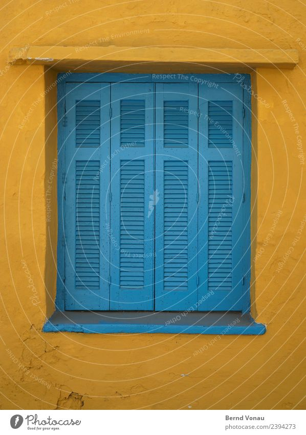 Wooden shutters in a Greek house Vacation & Travel Tourism Summer Summer vacation House (Residential Structure) Crete Greece Village Wall (barrier)