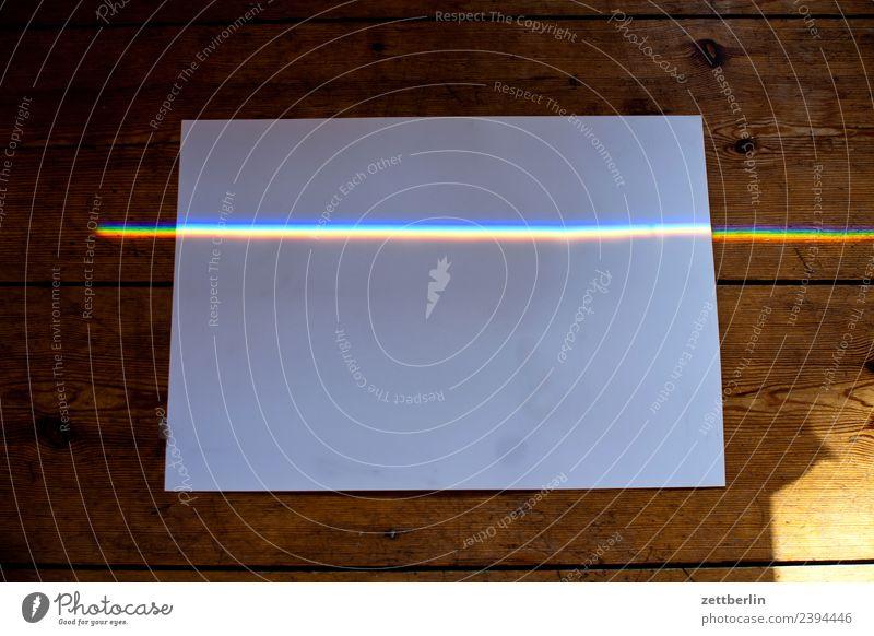 Coloured light on paper Multicoloured Light Refraction Beam of light Physics Prism Rainbow Prismatic colors Prismatic colour Spectral Wave length Line Stripe