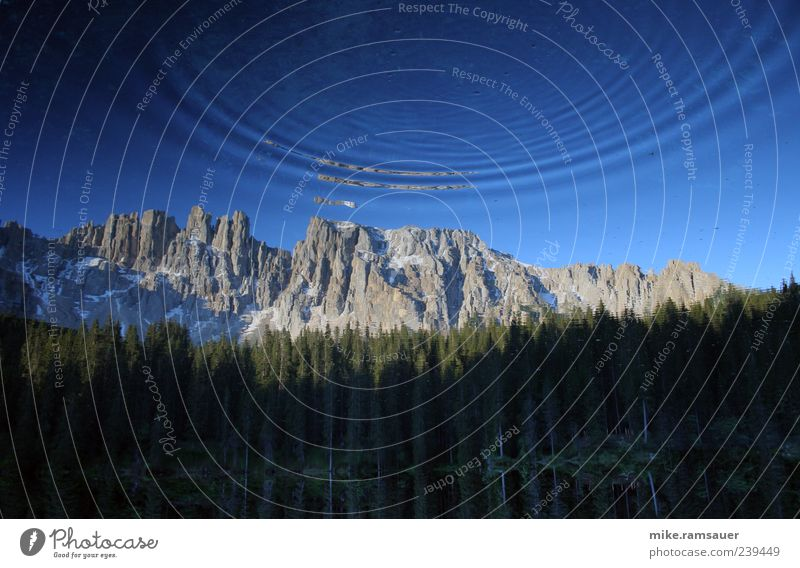 Impact from outer Space Sky Nature Blue Water Summer Environment Landscape Mountain Wood Stone Earth Weather Fear Rock Climate