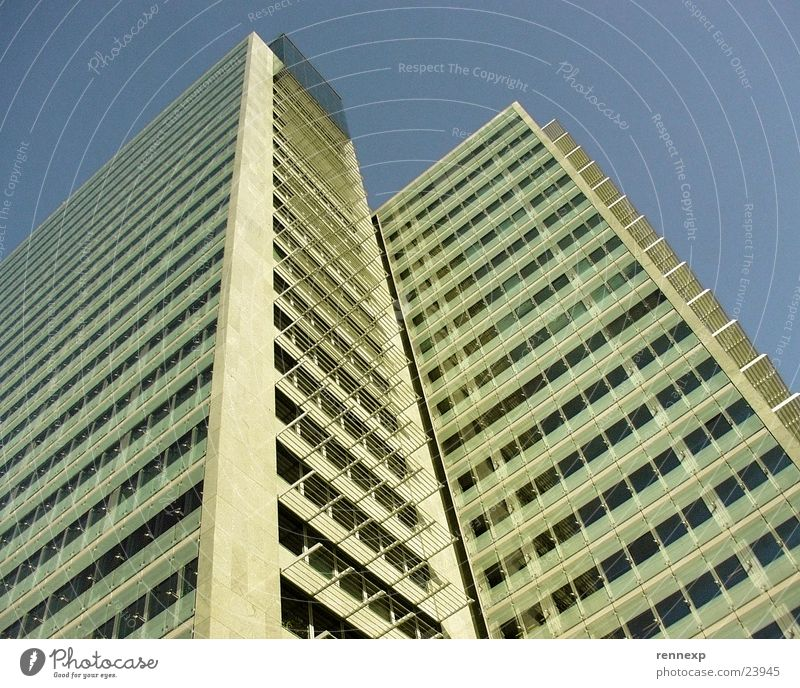 Sky Summer Yellow Window Architecture Glass Tall Concrete High-rise Perspective Clarity Friendliness Story Beautiful weather Stick Ant