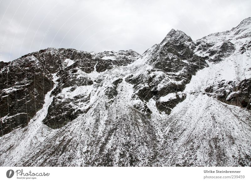 pollution of the environment Nature Landscape Clouds Autumn Ice Frost Snow Rock Alps Mountain Rettenbachferner Ötz Valley Sölden Peak Snowcapped peak Glacier