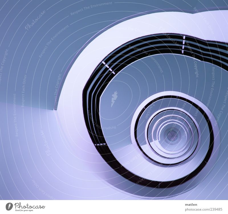 Blue White Black Cold Exceptional Stairs Esthetic Star (Symbol) Middle Banister Staircase (Hallway) Rotate Whorl Light blue Image editing Swirl