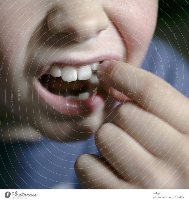 Child Life Emotions Movement Healthy Infancy Fear Mouth Fingers Change Teeth Touch Pain Indicate 8 - 13 years Expectation