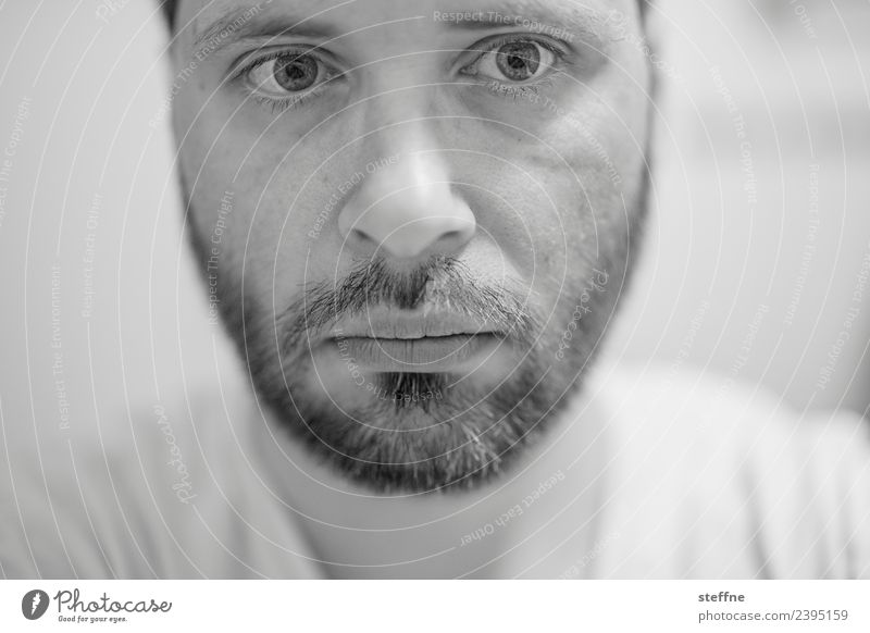 self Masculine Man Adults Face Eyes Nose Mouth Lips Facial hair 1 Human being 30 - 45 years Concentrate Sadness Deepen Selfie Designer stubble