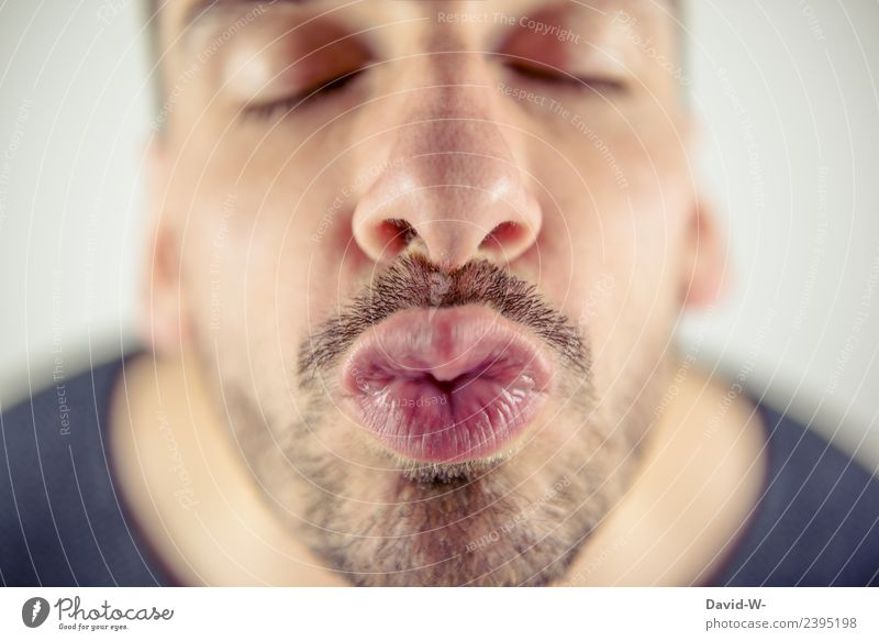 kiss Joy Harmonious Valentine's Day Human being Masculine Young man Youth (Young adults) Man Adults Life Nose Mouth Lips 1 Art Artist Kissing Infatuation Love