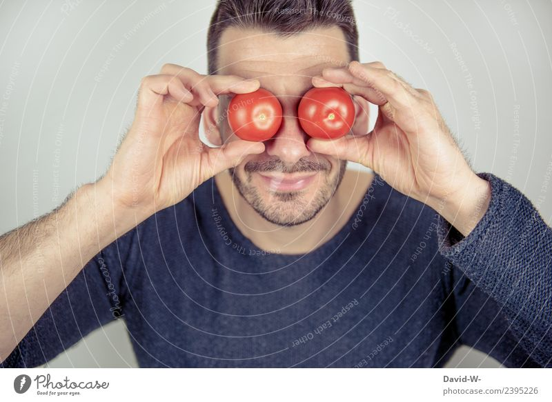 Tomatoes on the eyes Food Lifestyle Healthy Medical treatment Illness Education School Study Student Professional training Apprentice Examinations and Tests