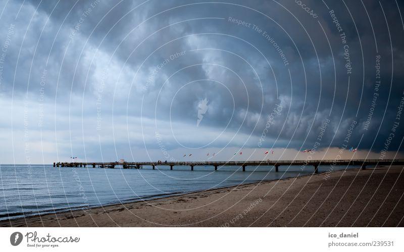 Sky Water Vacation & Travel Summer Ocean Beach Clouds Landscape Dark Coast Weather Wind Wet Trip Threat Baltic Sea