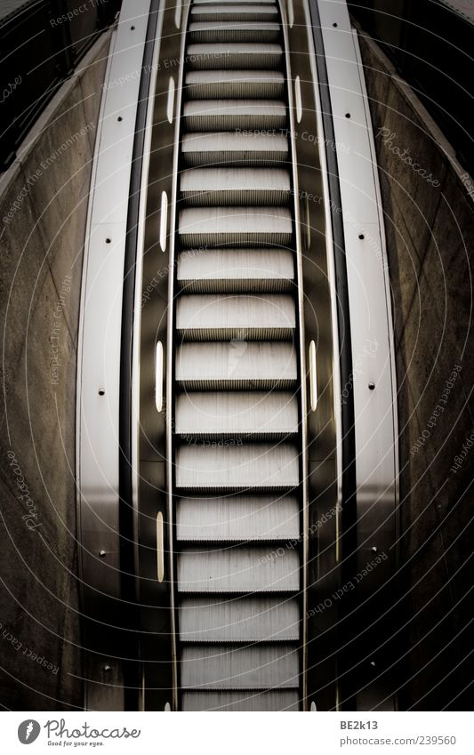 Black Wall (building) Architecture Wall (barrier) Style Gray Metal Facade Stairs Driving Plastic Steel Silver Escalator