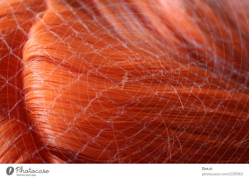 Red Hair and hairstyles Glittering False Red-haired Delicate Part Artificial Wig Pattern