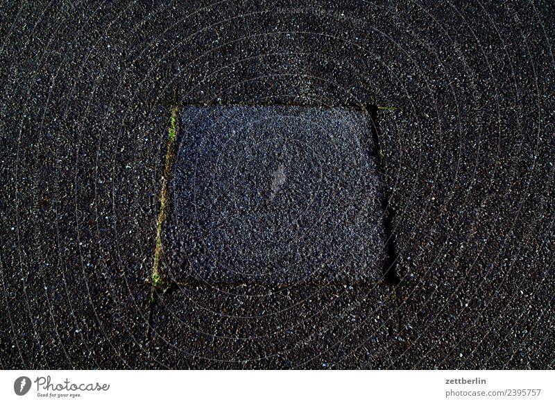 pothole (patched) Asphalt Street Pavement Pothole Repair Repair kit Patch Repaired Trajectory Runway Airport Airfield Berlin Airport Berlin-Tempelhof