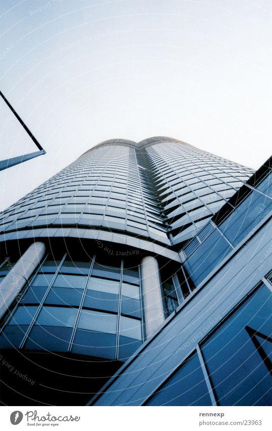 Sky Window Building Metal Art Architecture Concrete High-rise Arrangement Tower Lantern Upward Column Vienna Tourist Attraction Front side
