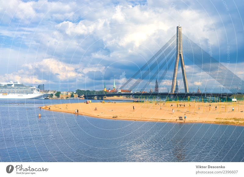 The capital of Latvia Riga in the spring Beautiful Vacation & Travel Tourism Summer House (Residential Structure) Landscape Sky Autumn Baltic Sea River Town