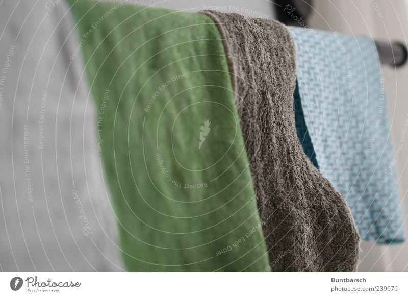 Blue Green Gray Dirty Wet Cloth Cleaning Clean Dry Hang Laundry Textiles Rag Hang up Cleanliness Floor cloth
