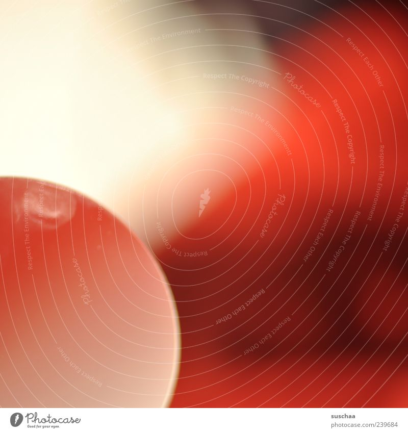 301 Magnifying glass Glass Round Red Blur Colour photo Detail Experimental Deserted Transparent Magnifying effect Abstract Structures and shapes Copy Space
