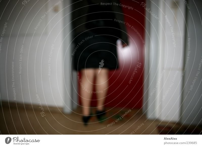 Human being Red Black House (Residential Structure) Feminine Gray Legs Door Going Footwear Authentic Living or residing Safety Skirt Testing & Control Coat