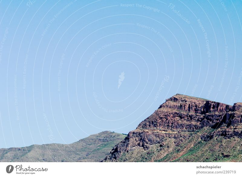 Do you see the mountains ... Vacation & Travel Tourism Far-off places Freedom Summer Mountain Environment Nature Landscape Cloudless sky Rock Spain Gran Canaria