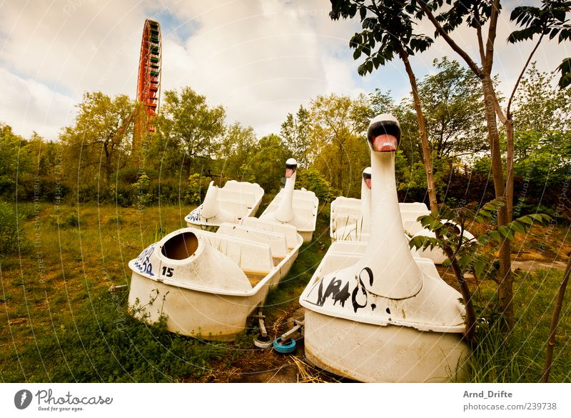 Clouds Meadow Berlin Watercraft Broken Change Past Destruction Swan Ferris wheel Insolvency Amusement Park Defective Pedalo Spreepark