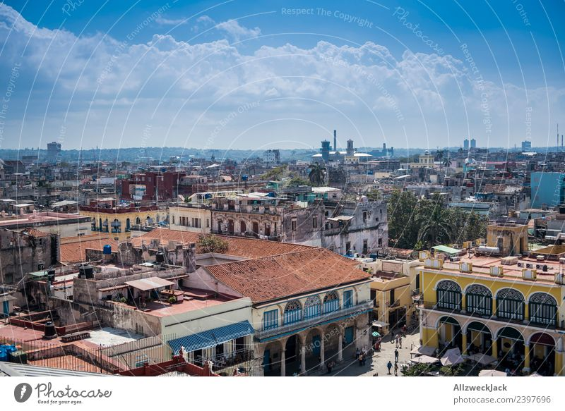 View of the skyline of Havana Cuba Island Socialism Vacation & Travel Travel photography Trip Sightseeing Town Blue sky Cloudless sky Wanderlust