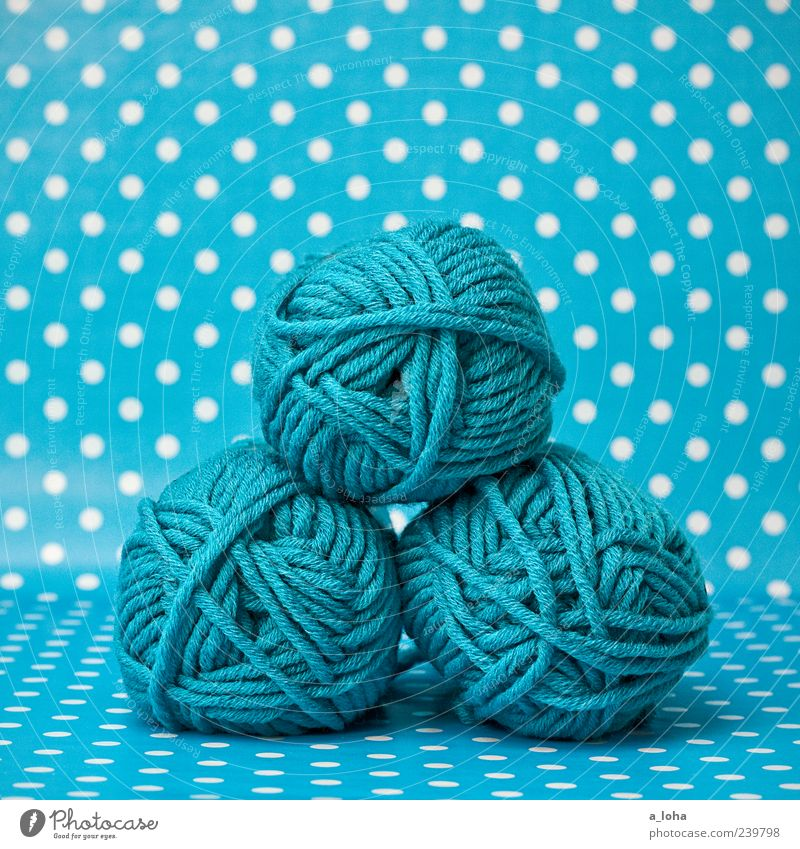 Beautiful Colour Background picture Leisure and hobbies Beginning Lifestyle Point Turquoise Hip & trendy Sewing thread Wool Spotted Knit Handcrafts Knot Crochet