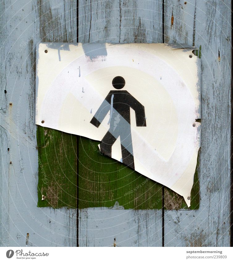 Blue Old Wood Metal Going Signs and labeling Signage Retro Derelict Firm Decline Bans Movement