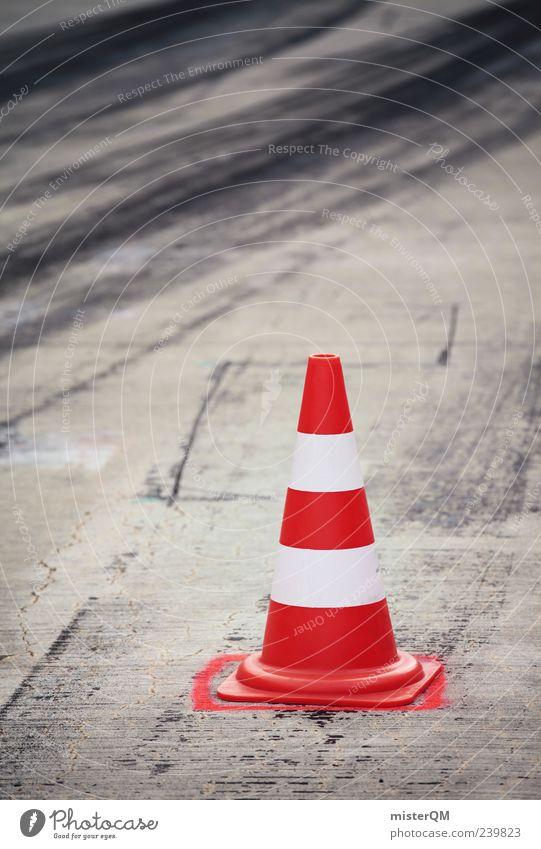 GRIP. Conical Skittle Barred Transport Skid marks Tracks Motorsports Signs and labeling Lane markings Red Warning colour Urban traffic regulations Formula 1