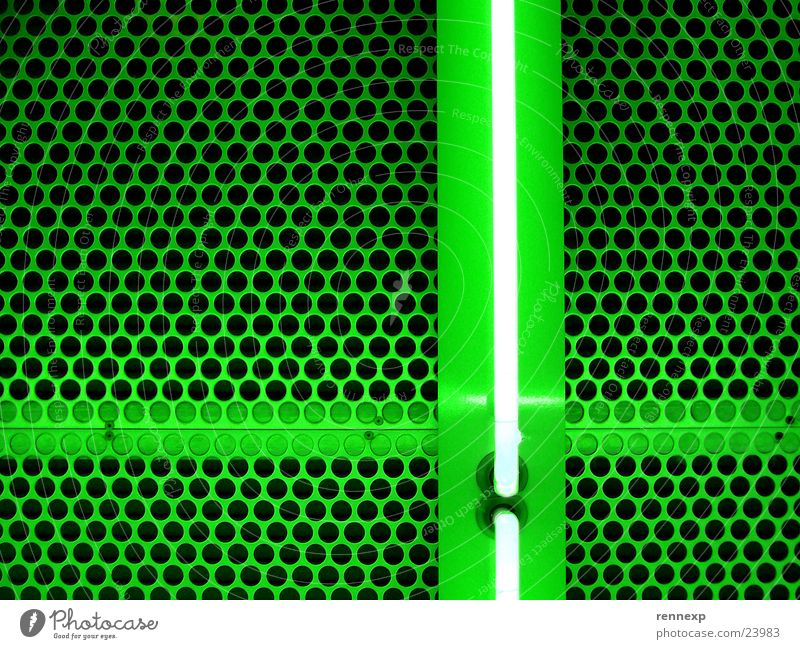 Green+ Grating Hollow Pattern Technical Light Neon light Fluorescent substance Fluorescent Lights Lamp Flashy Electric Electrical equipment Positive Matrix