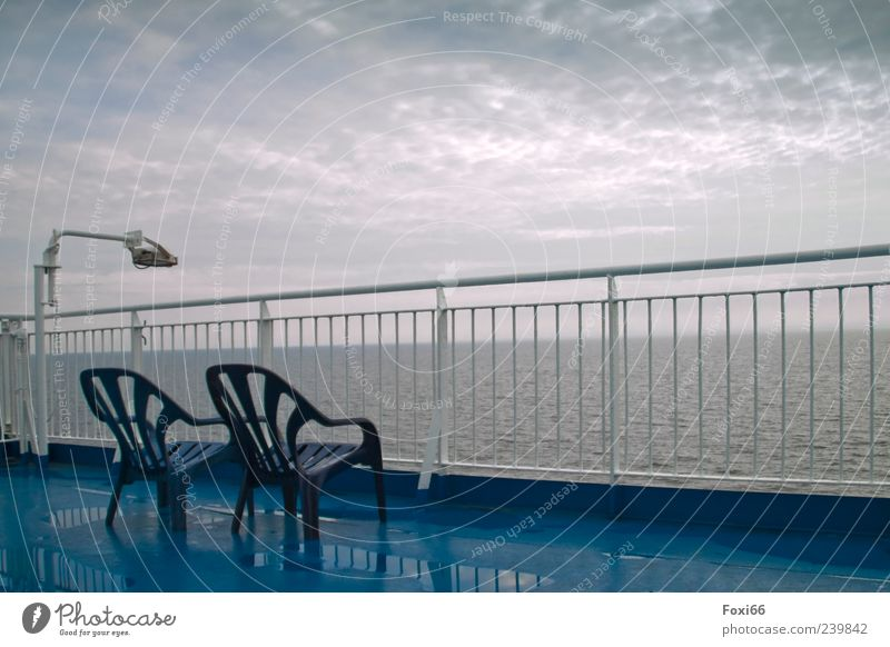 Sky Blue Water White Vacation & Travel Summer Clouds Dark Cold Gray Empty Chair Plastic Baltic Sea Navigation Steel