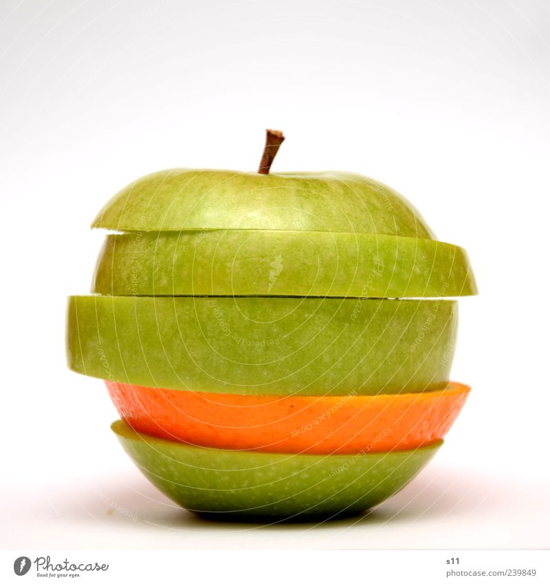 Green Beautiful Healthy Exceptional Nutrition Orange Food Modern Apple Part Stalk Isolated Image Fruit Organic produce Exotic Diet