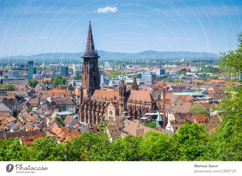 munster of freiburg Vacation & Travel Religion and faith Freiburg cathedral City church architecture Germany landmark town Gothic style minster construction