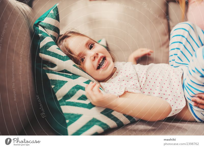 happy toddler girl playing at home Lifestyle Joy Happy Beautiful Face Child Baby Toddler Woman Adults Smiling Laughter Happiness Small Cute Pink Delightful