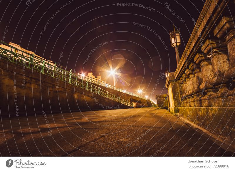 Street at night at Brighton Beach, Brighton, England Esthetic Background picture Dark Light Night mood Night life Night shot Structures and shapes Colour photo