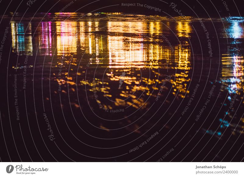 abstract coloured reflections on the water at the beach Water Ocean Lake Esthetic Brighton Background picture Multicoloured Reflection Pattern Abstract Dark