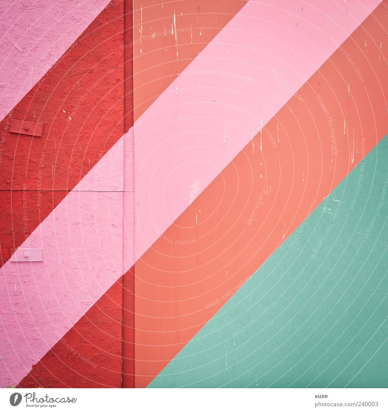 Green Red Wall (building) Wall (barrier) Style Line Background picture Pink Design Modern Stripe Illustration Simple Tilt Considerable Diagonal