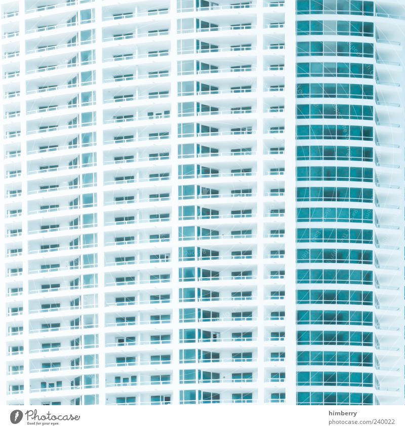 Blue White House (Residential Structure) Architecture Building Style Facade Design High-rise Gloomy Manmade structures